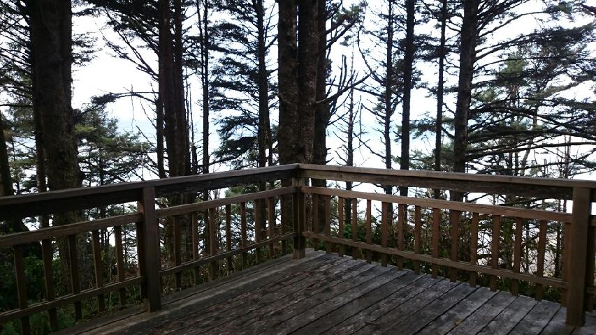 Beach House Deck View, Falcon Cove, Oregon